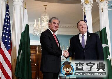 国际英语新闻:Pompeo meets Pakistani FM on Afghanistan, ties
